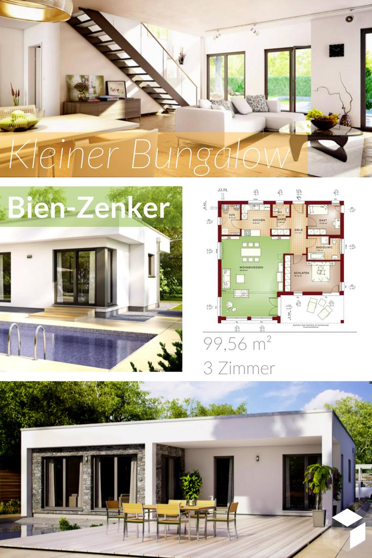 Der kleine moderne Bungalow Evolution 100 V7 von Bien Zenker ...