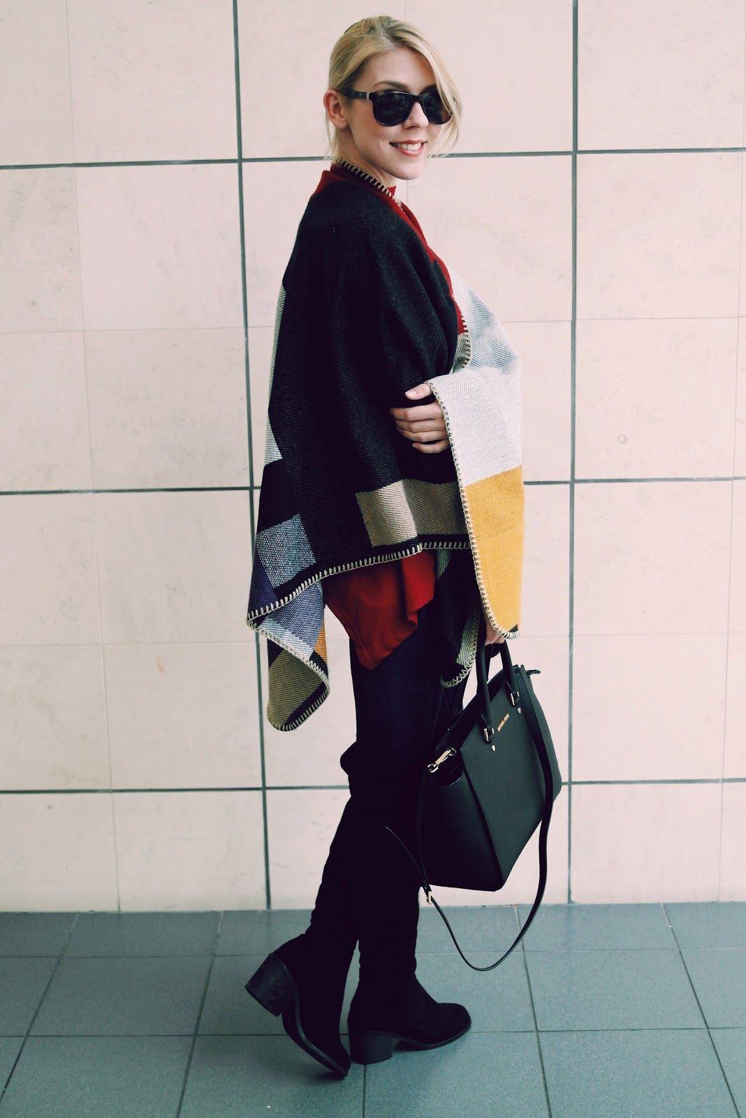 Classic Check Poncho | The Kawaii Planet : Kawaii Fashion Blog