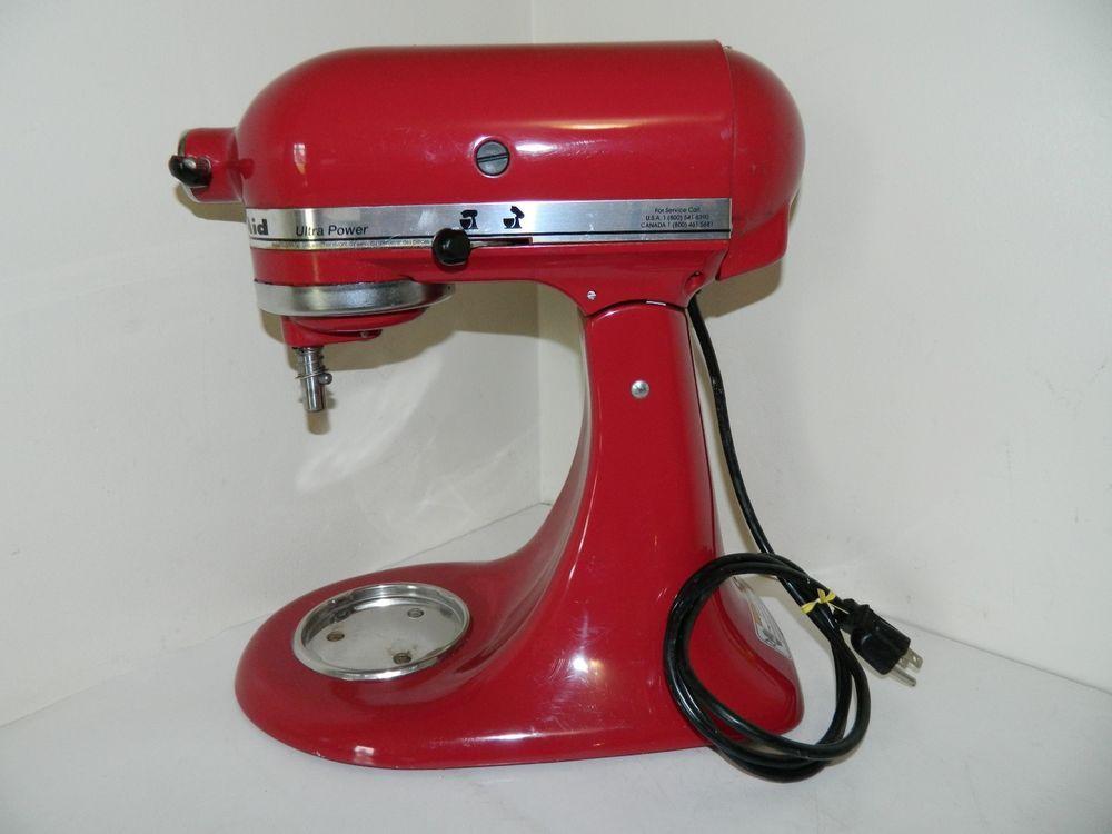 Kitchenaid ksm90 er red 300 watts tilt stand mixer 45 qt