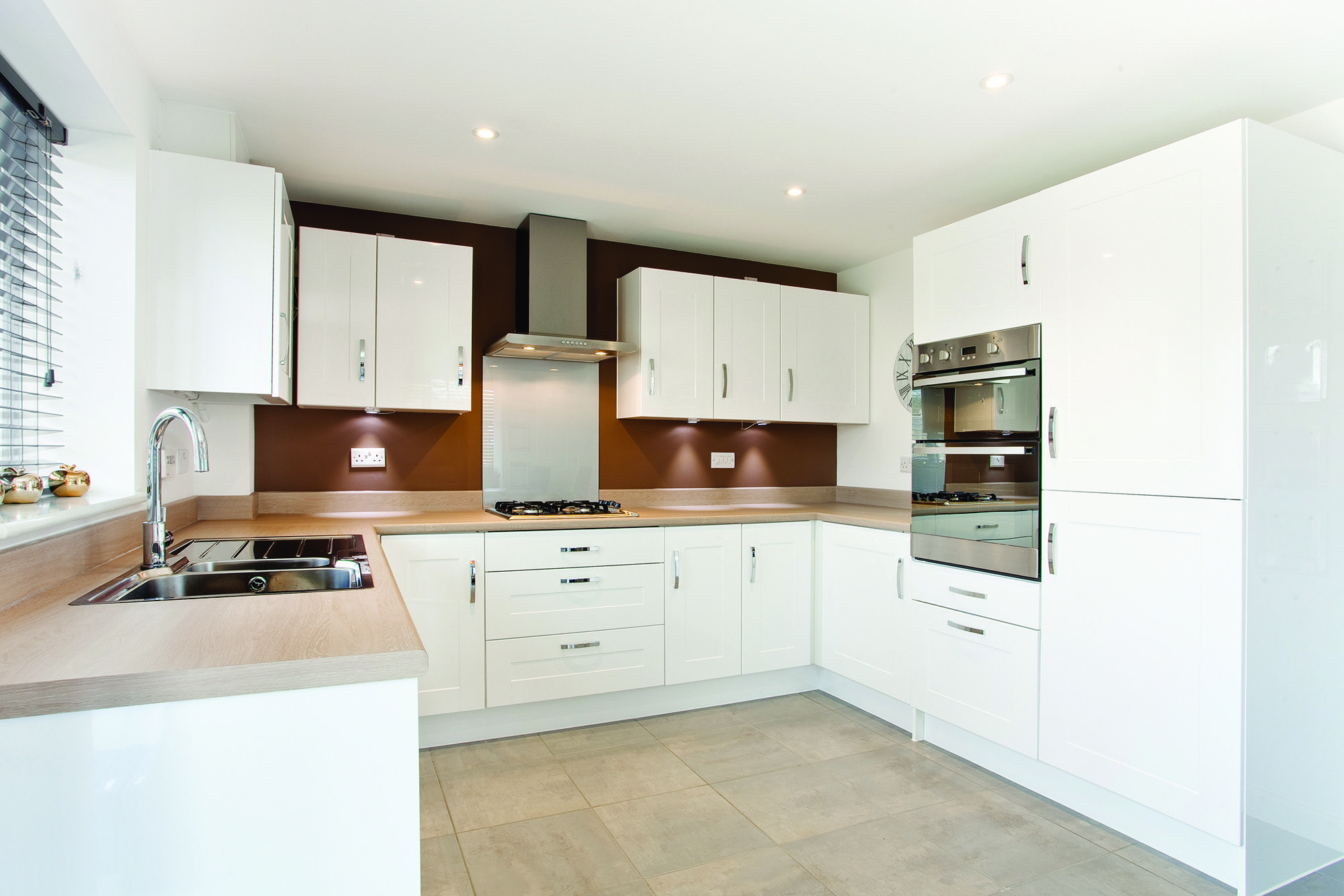 The Kitchen In The Sheringham At Montfort Meadow In Evesham - New homes kitchen designs