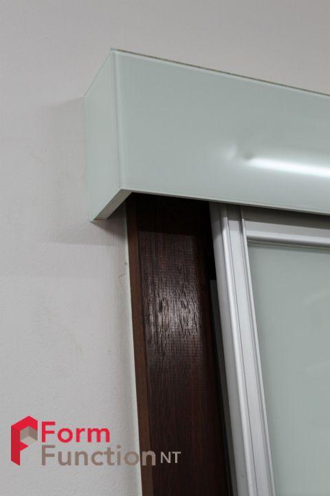 Top Hung Sliding Door Showing A Closer View Of The Pelmet Sliding Door Design Wardrobe Shelving Custom Sliding Doors