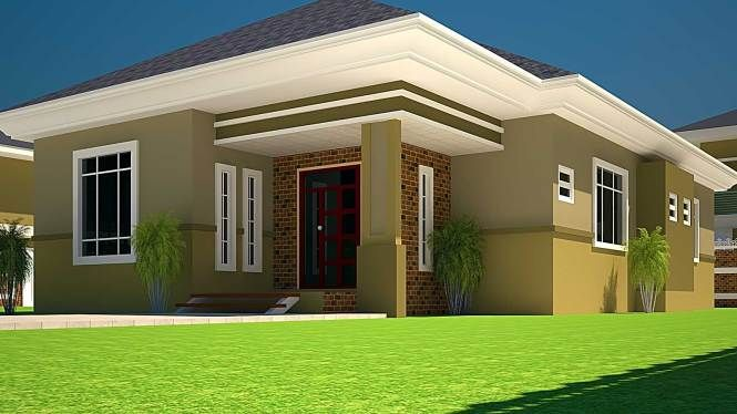 3 Bedroom House Plan In Ghana Arts Free Or 4 And Nigeria First Pertaining To 3 Bedroom House Wit House Design Pictures Bungalow House Design Simple House Plans