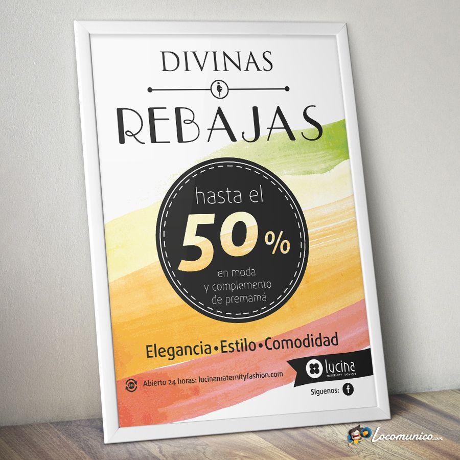 Cartel De Campana De Rebajas Para Tiendas De Ropa Premama Brimia