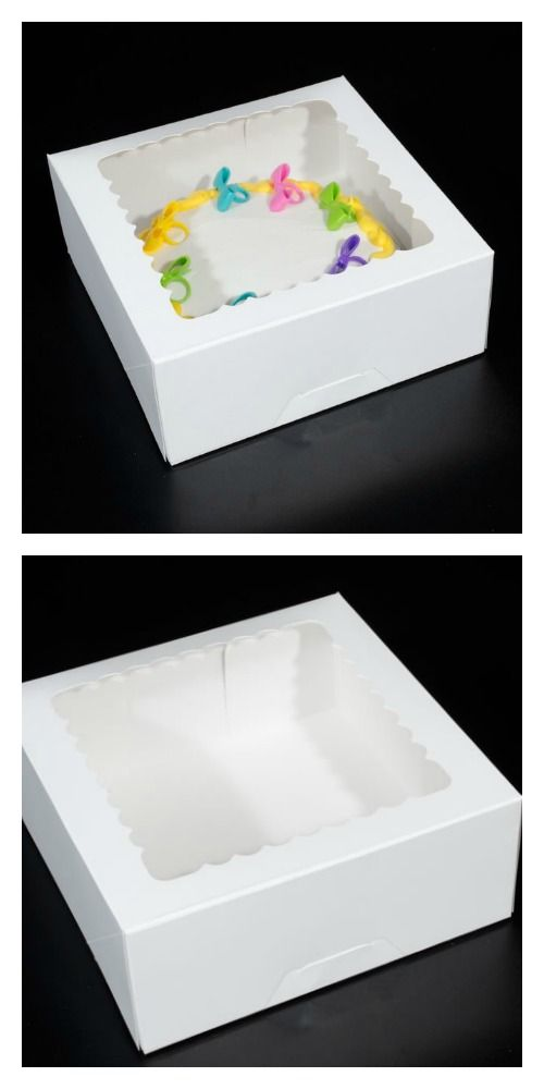 Bakery Box With Window Cake Box That Measures 10 X 10 X 4 With A Window Can Be Either A Cake Box Pie Box 1 2 Dozen Cupcake Pie Box Box