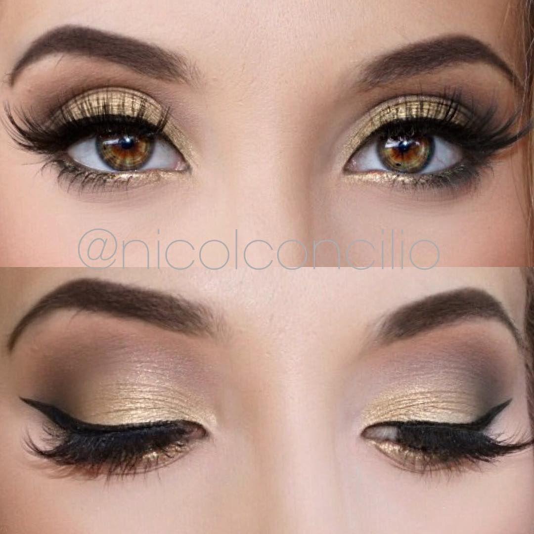 nicol concilio simple gold eyeshadow look using anastasia ...