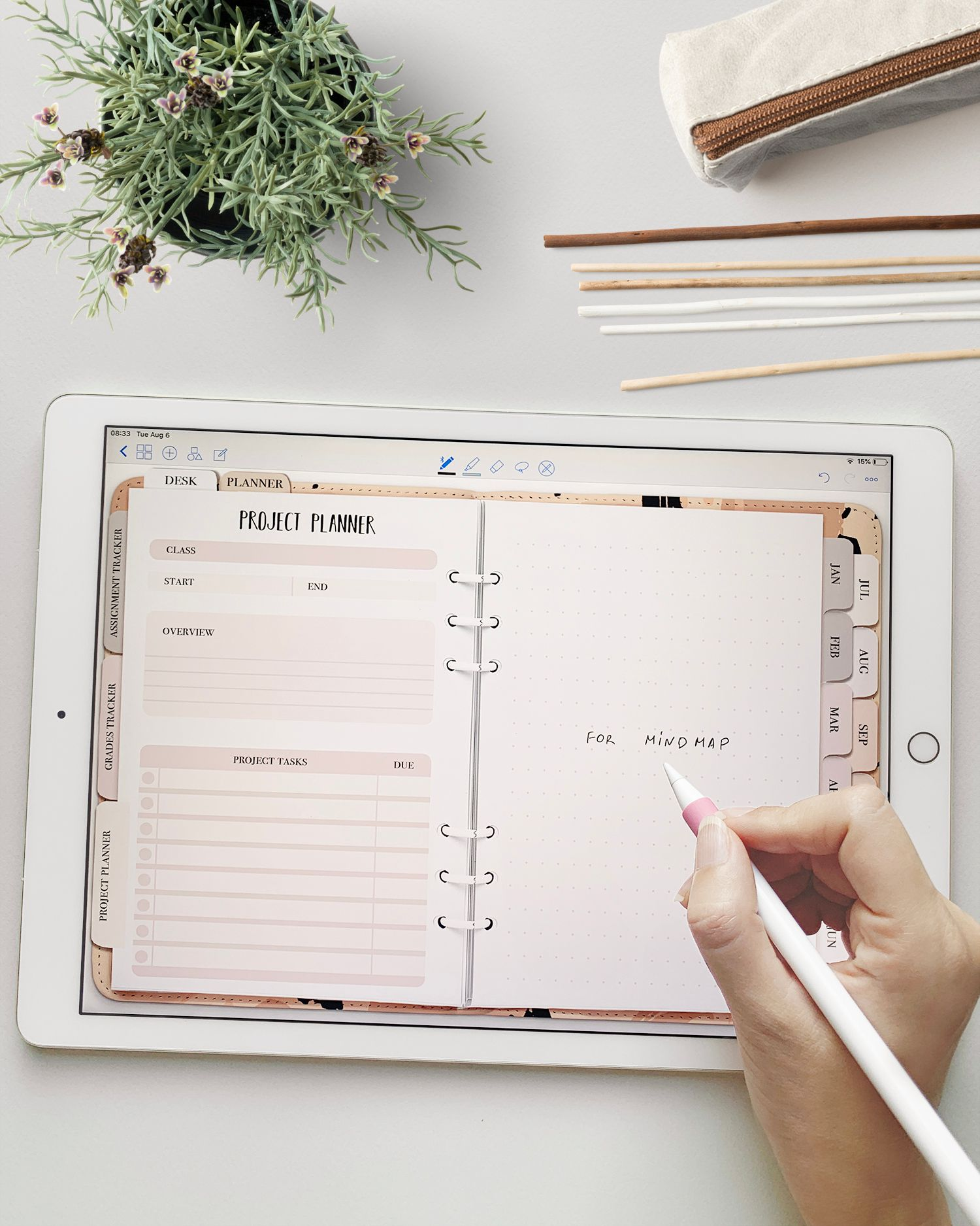 Student planner - Academic digital planner - Monthly/ weekly planner - School College planner - Study notebook