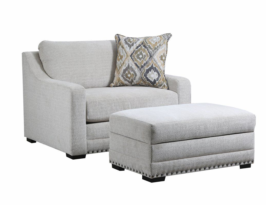 Swanigan Chair And A Half By Simmons Upholstery Chair And A Half Chair And Ottoman Set Furniture