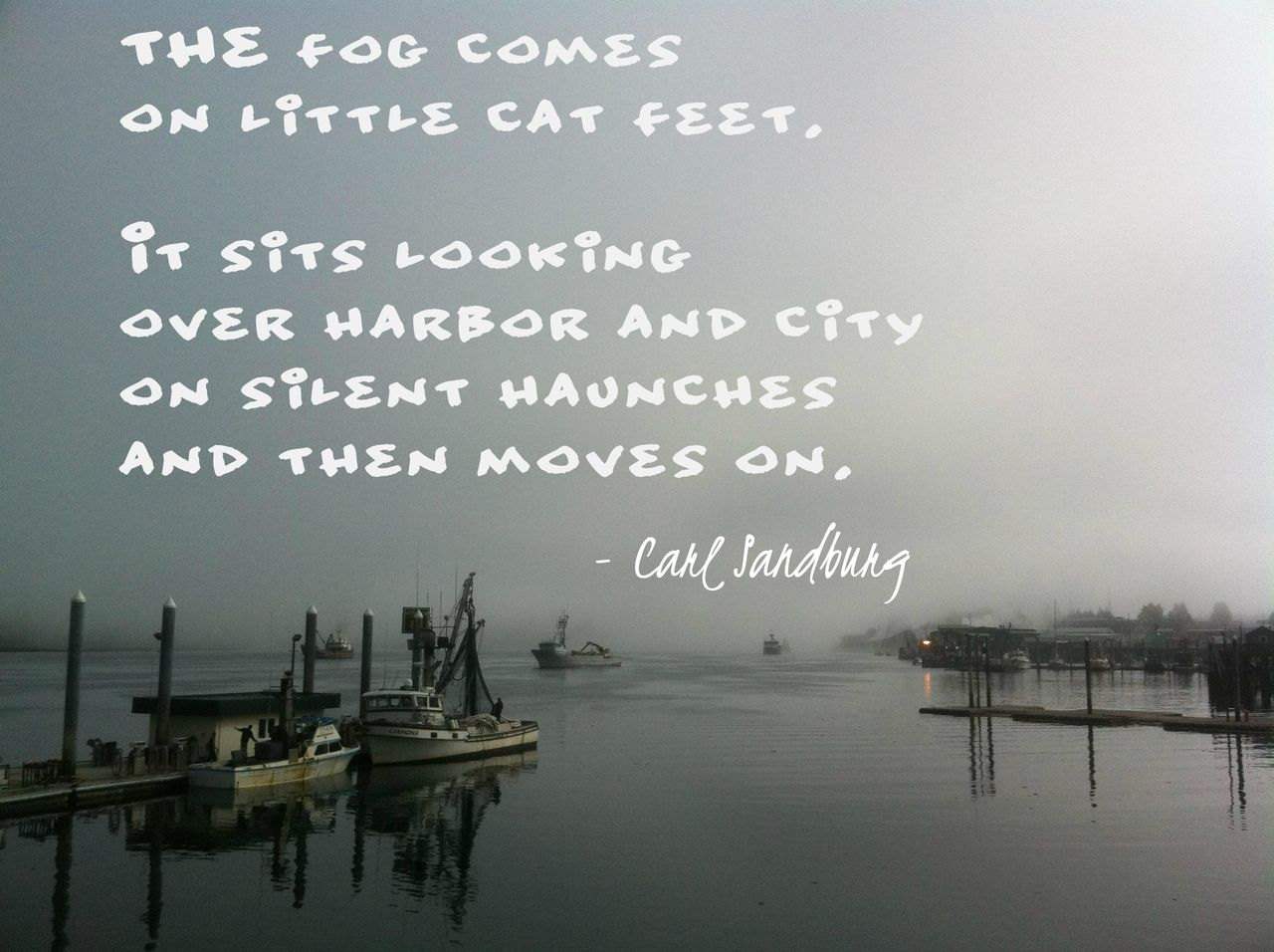 Fog by Carl Sandburg @Liz Budd I remember that day in your English ...