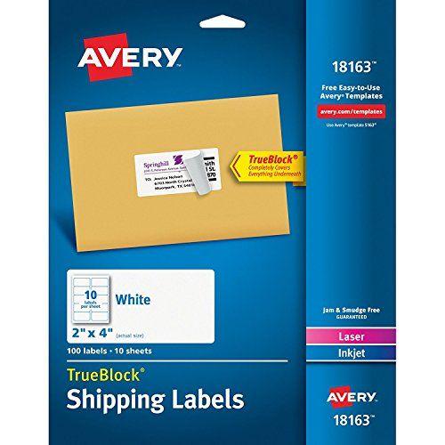 Avery Shipping Labels For Laser And Inkjet Qadij Printers White 2