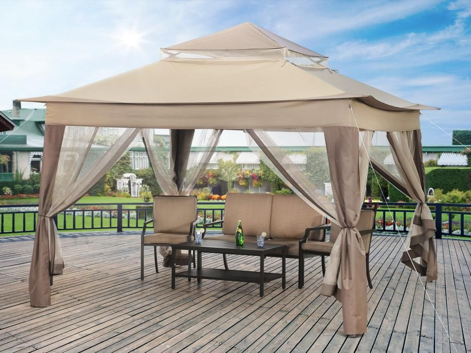 10 Clever Ways To Hide Outdoor Eyesores Hgtv Canopy Outdoor Portable Gazebo Patio Gazebo