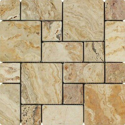 Meraki Philadelphia Tumbled 12 X 12 Travertine Mosaic Tile Color Beige In 2020 Travertine Mosaic Tiles Travertine Stone Mosaic Tile