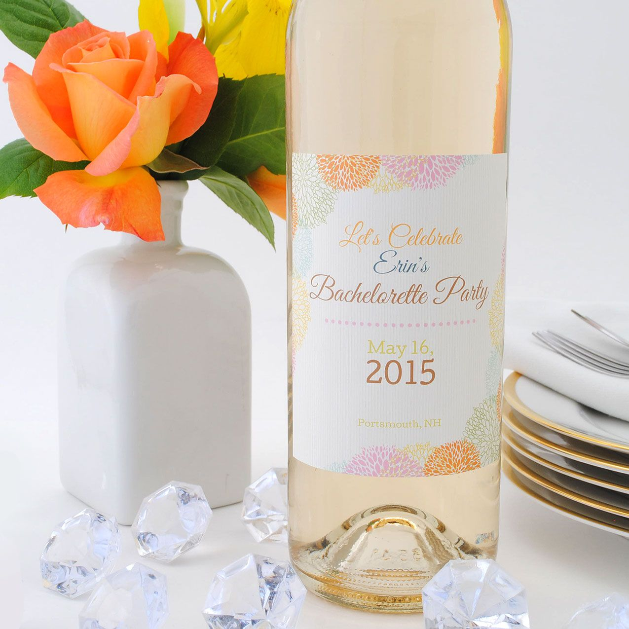 Wine labels to celebrate a bachelorette party. From elegant to funny ...