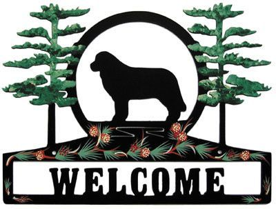 Hand Painted Newfie Welcome Sign