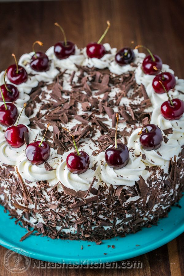 Black Forest Cake A Famous German Chocolate Cake With 4