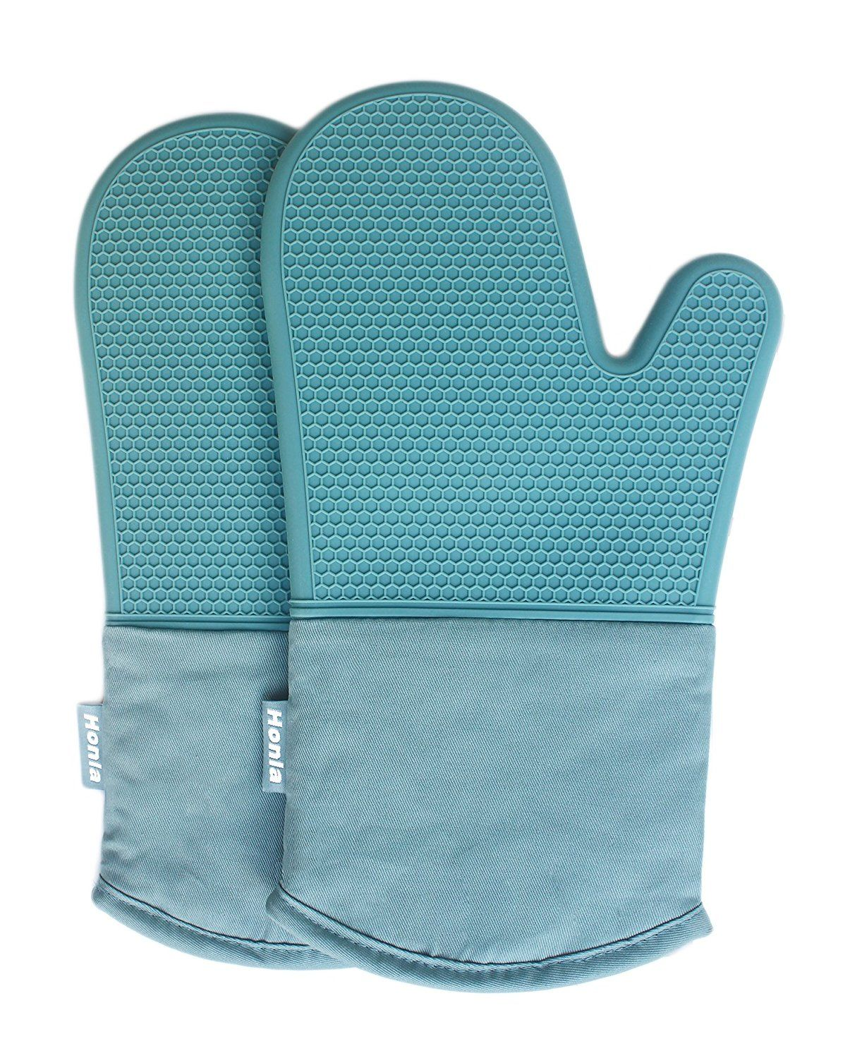 Kitchen GREEN LEAVES Oven Gloves A pair BBQ