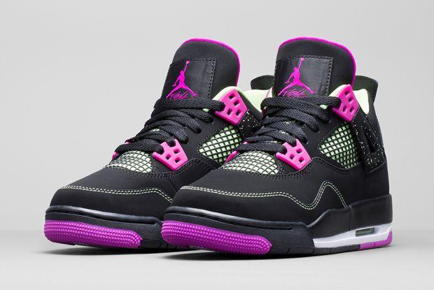 Air Jordan 4 Gs Rose Violet Hombre