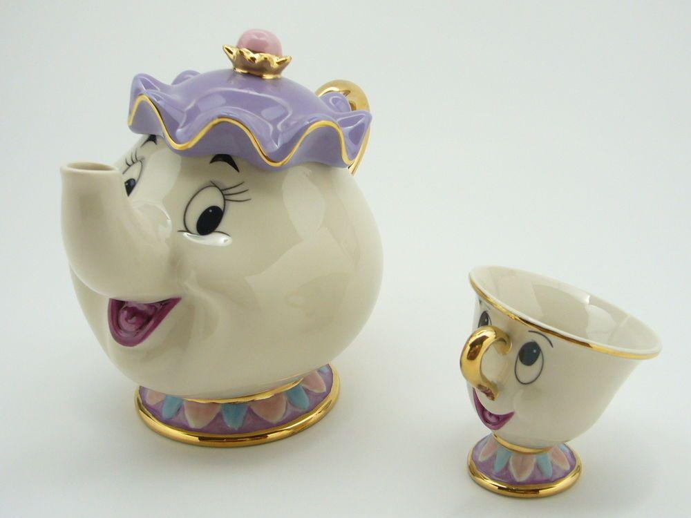 disney die sch ne und das biest madame pottine tassilo figuren keramik japan disney das. Black Bedroom Furniture Sets. Home Design Ideas