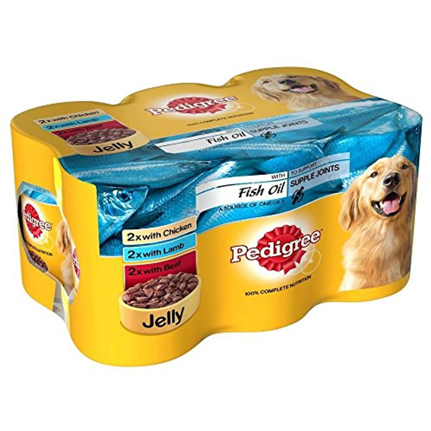 Pedigree chicken lamb beef with fish oil in jelly