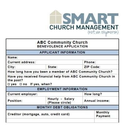 Most churches deal with requests for benevolence assistance at one - membership card template word