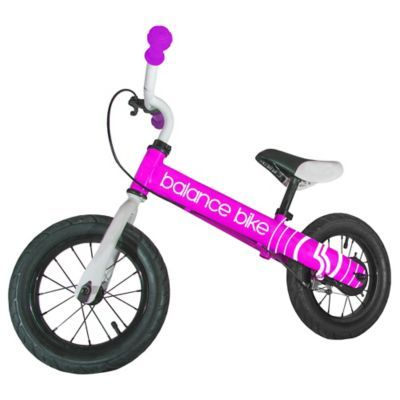 12 Metal Balance Bike In Pink Balance Bike Bike Cool Bikes