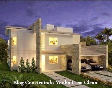 Fachadas de casas modernas com p rtico fachadas de casas for Portico moderno