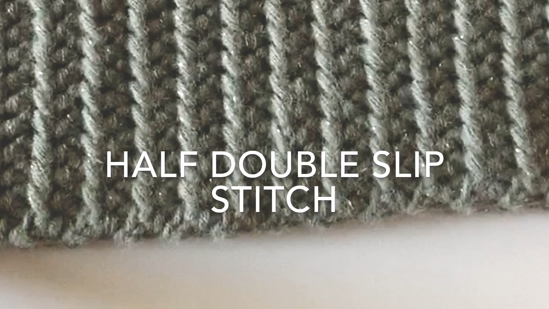 Photo of Half Double Slip Stitch   Daisy Farm Crafts