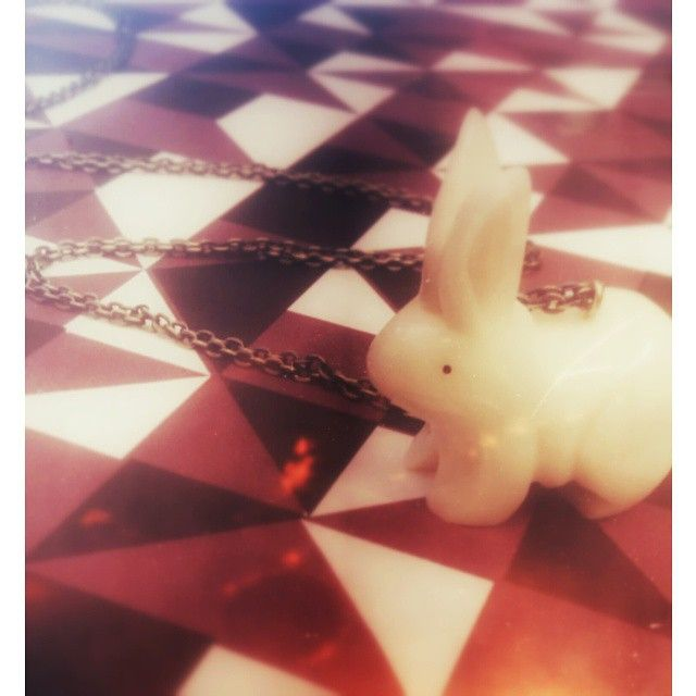 DISCO BUNNY! Now available online http://www.justtrade.co.uk/tagua-rabbit-pendant #fairtrade #fair #trade #justtrade #jewellery #ethical #accessories #handmade #london #peckham #busseybuilding #discotech #tagua #supersaturday #cute