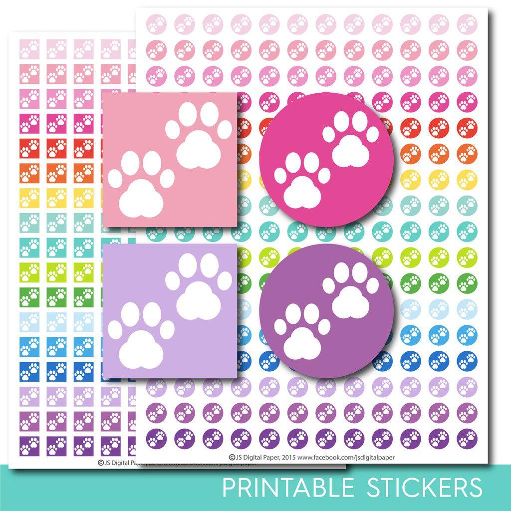 Dog stickers, Dog planner stickers, Dog printable stickers, Dog sticker, Cat stickers, Vet stickers, Paw stickers, STI-276