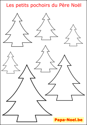 Imprimer Un Pochoir De Sapin De Noel Gratuit Pochoirs De Noel