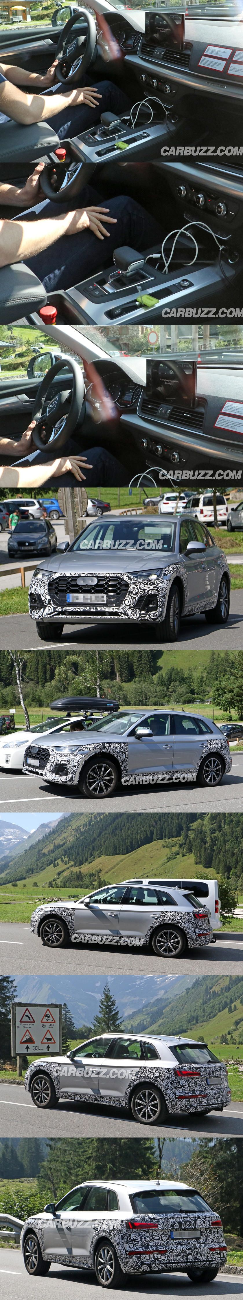 Take A First Look Inside The 2020 Audi Q5s Improved Interior The Facelifted Q5s Interior Gains Some Fancy New Tech Audi Q5 Hybrid Audi Q5