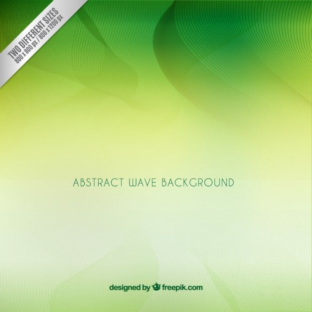 Download Abstract Green Wave Background For Free