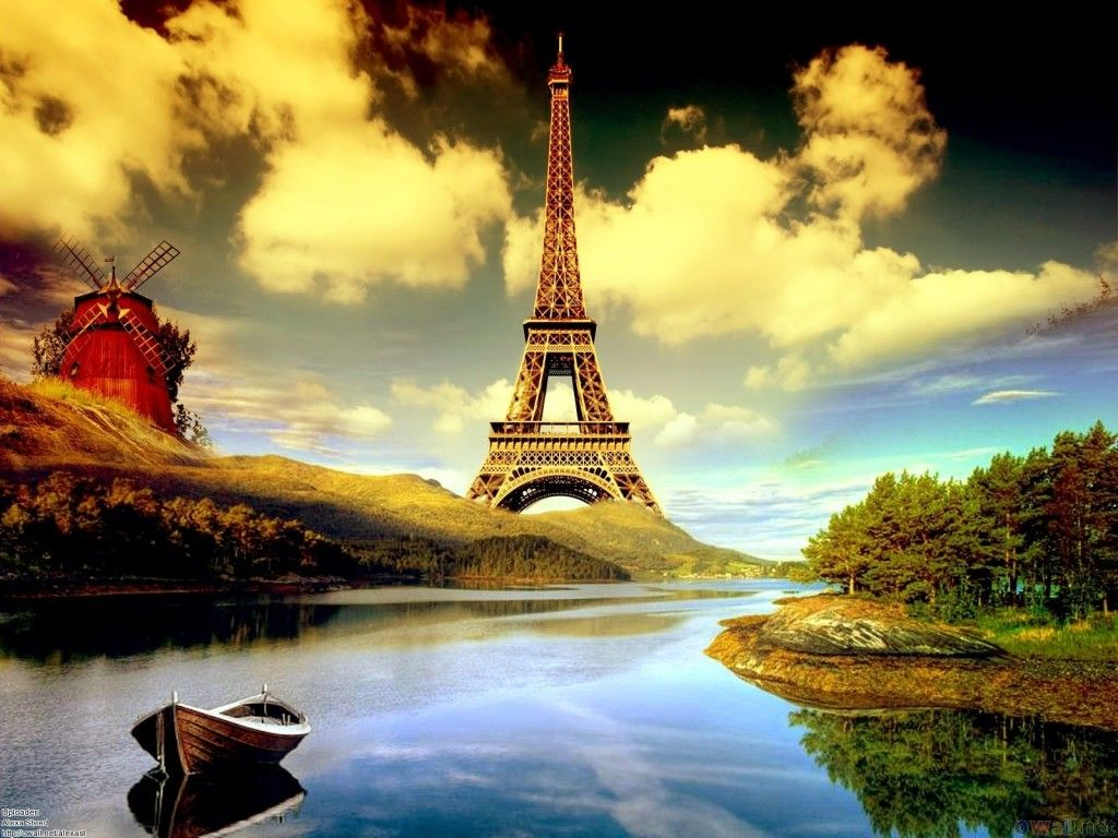 Eiffel Tower Cartoon Hd Wallpaper 1080p Projects To Try