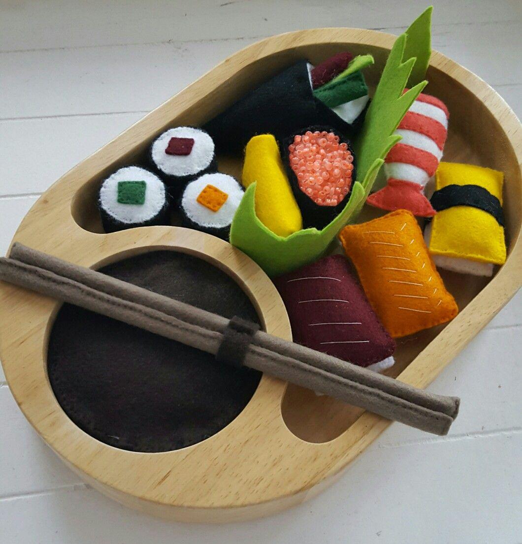 DIY (speelgoed)sushi van vilt