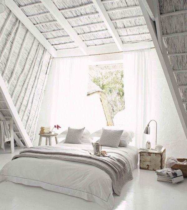 Soñadora toda habitación abuhardillada blanco Daily Sueño Decoración