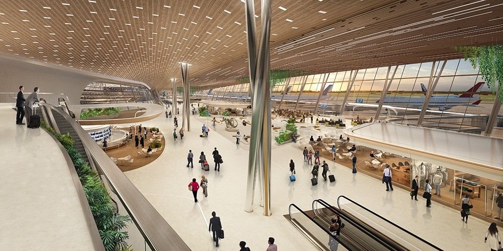 Taiwan Taoyuan International Airport Unstudio Proposes User Centric Design Arch2o Com In 2020 Airport Design Taoyuan International Airport Un Studio