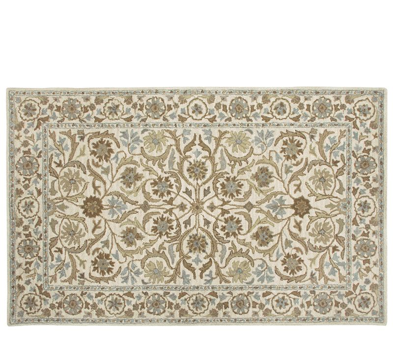 Ashlee Rug 5 X8 The Is Stocked In A Beige Background With Green Blue And Brown Fl Pattern Border