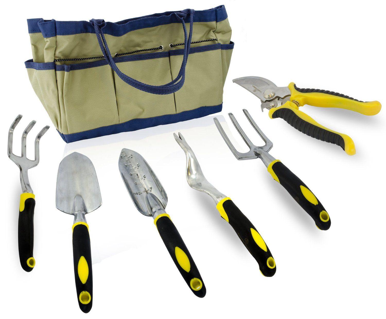 Amazon.com : 7 Piece Gardening Tool Set, Durable Aluminum ...