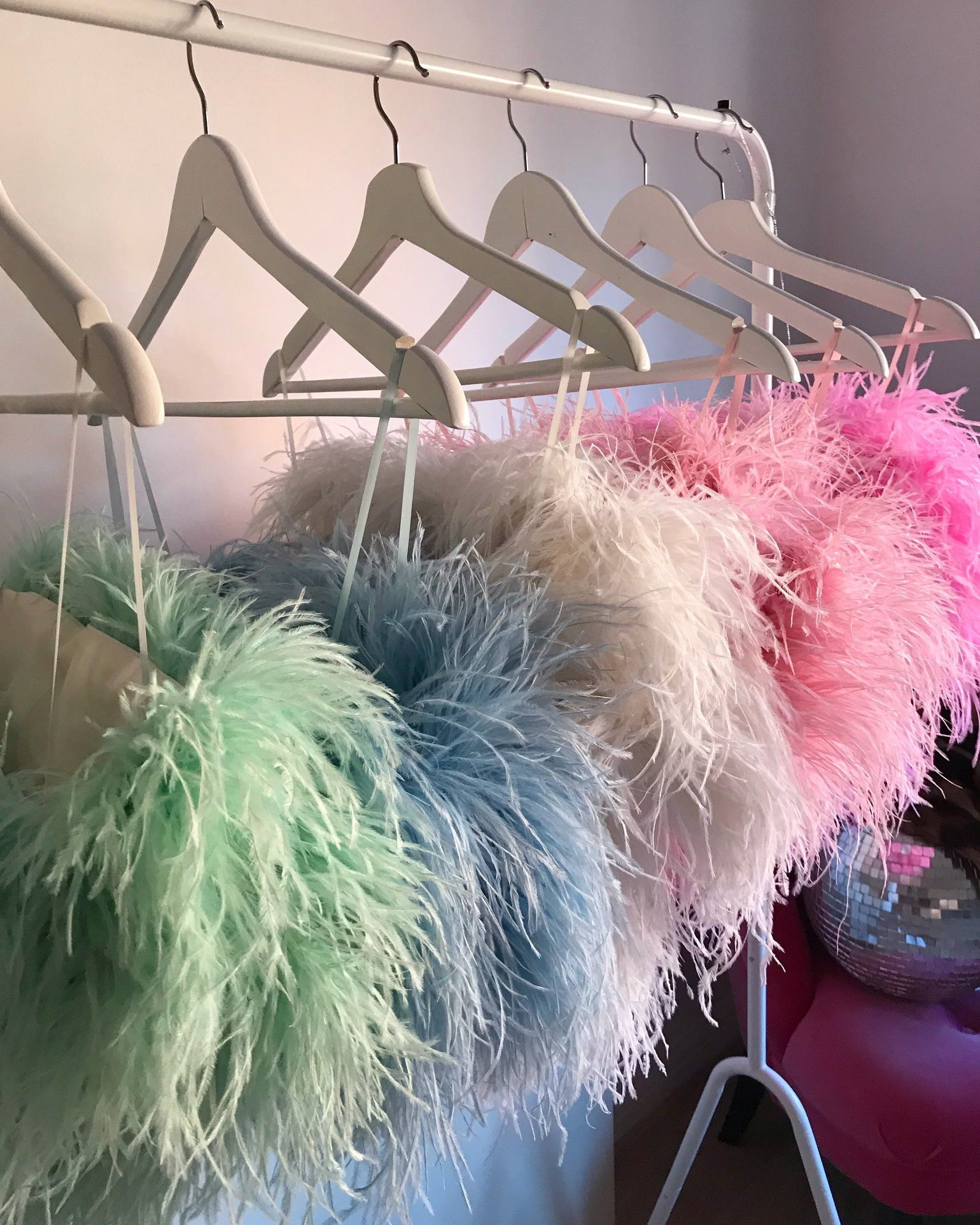 Ostrich Feather Boa Tops By Ploom 235 Each Feather Fashion Fashion Feather Tops