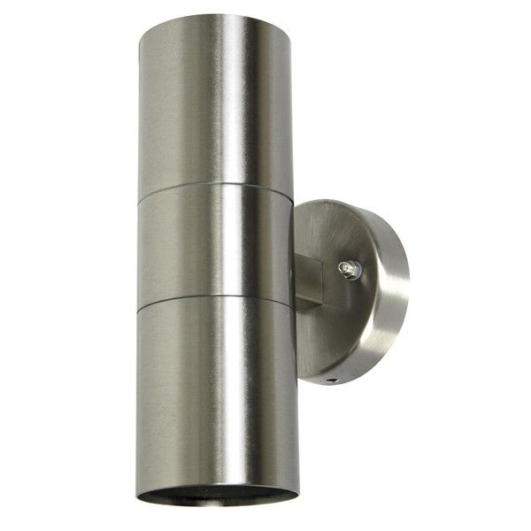 sentinel 2 light up down wall bracket in marine grade stainless