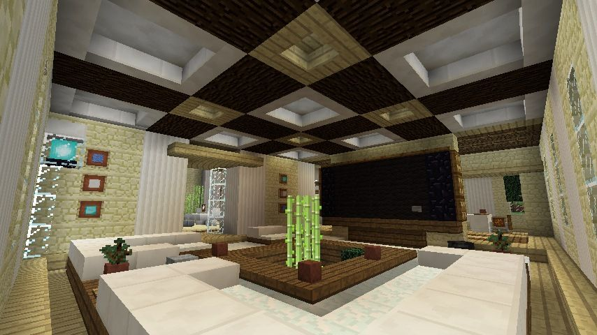 Minecraft furniture inspirations home design for Minecraft living room designs