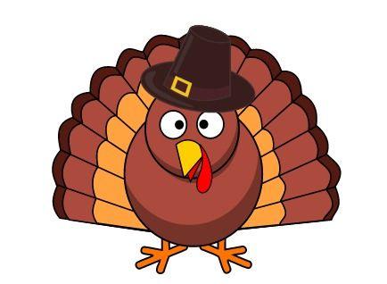 cartoon turkey in pilgrim hat #thanksgiving #clipart | holidays