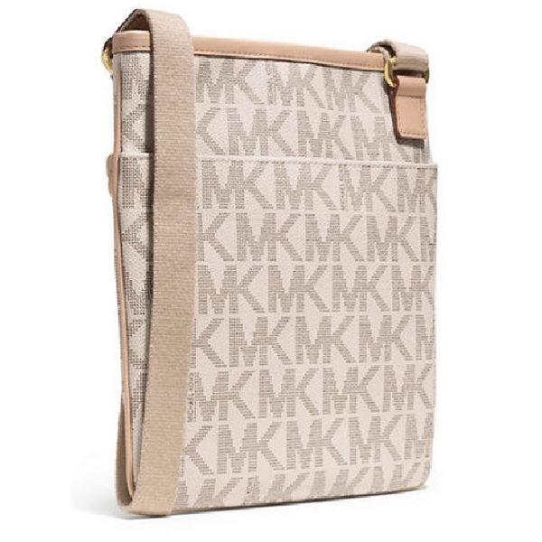 MICHAEL Michael Kors 'Jet Set' Large Monogrammed Crossbody - Overstock Shopping - Top Rated Michael Kors Crossbody & Mini Bags