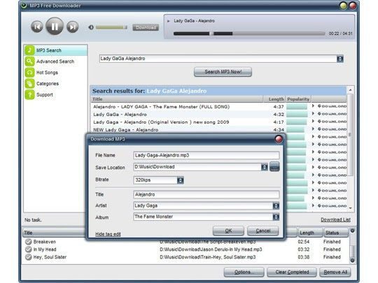 MP3 Free Downloader Free download and software reviews