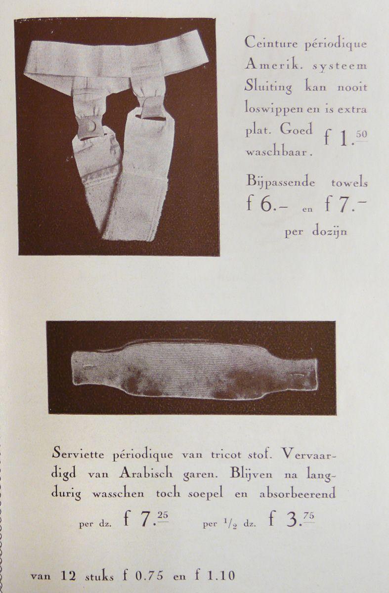 Sanitary Napkins And Girdle  Living History  Menstrual -9532
