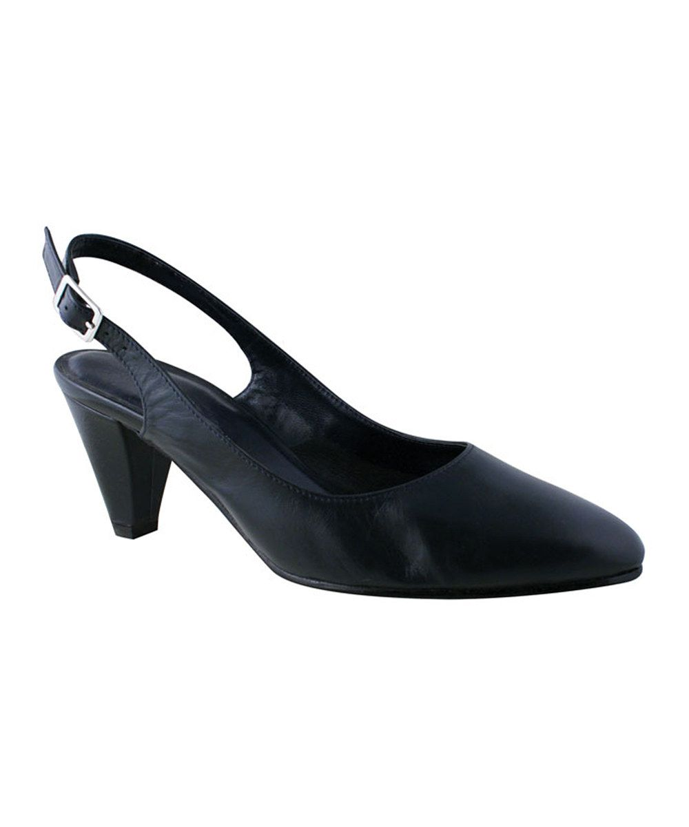 Look at this Rose Petals by Walking Cradles Navy Hill Leather Slingback on #zulily today!