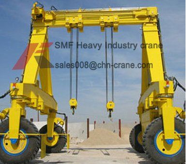 Rubber type Rail Mounted container Gantry Crane is a mobile