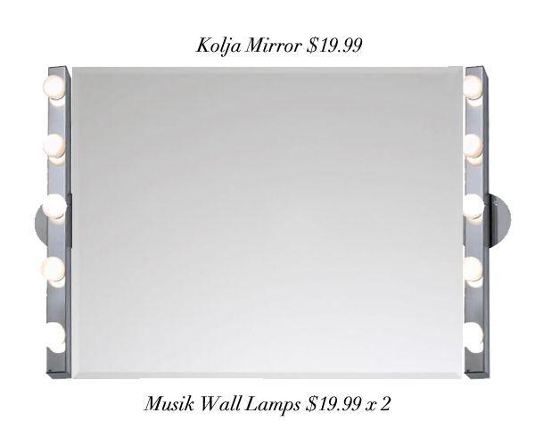 I want to make this IKEA DIY Vanity Mirror $59.97 - I Want To Make This IKEA DIY Vanity Mirror $59.97 The Beauty Of
