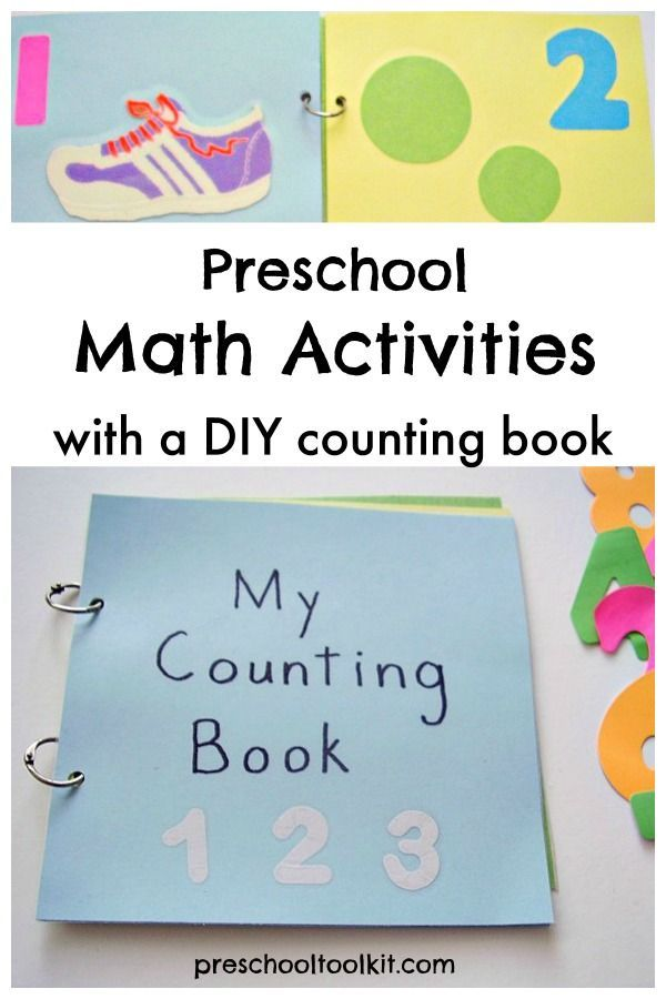 Preschool Math Activities with Homemade Counting Book