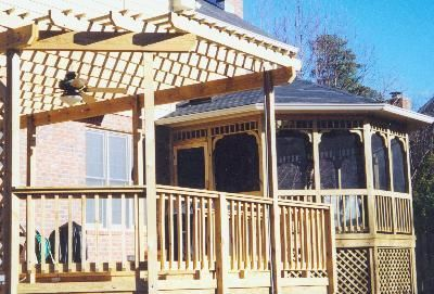 Screened gazebo and pergola combination by Archadeck of