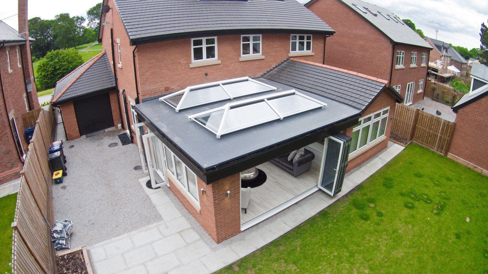 2500 X 1500 Aluminium Lantern Roof Ultrasky Unglazed In 2020 Roof Lantern Flat Roof Extension House Extensions